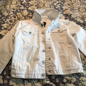 Girls white denim jacket